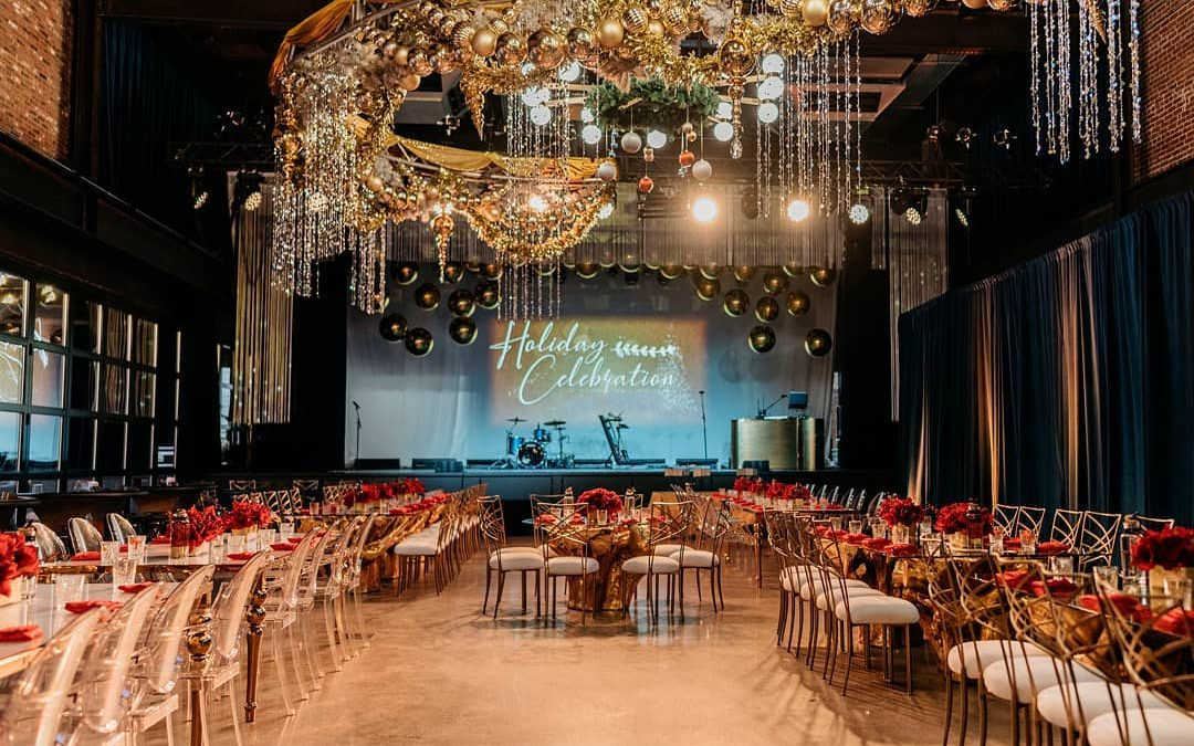 Gold and Glamorous Corporate Holiday Party