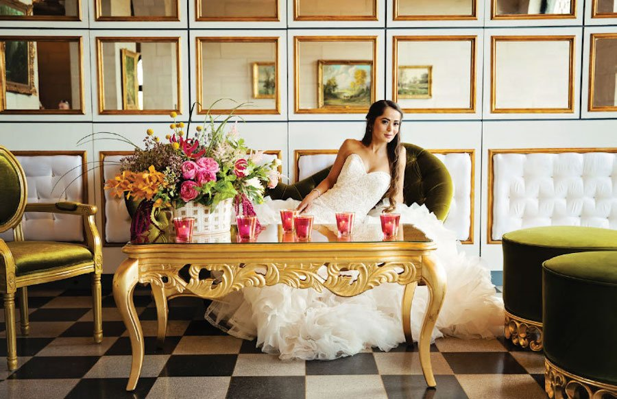 Chic Wedding Lounge Setting featured on Brides of Oklahoma